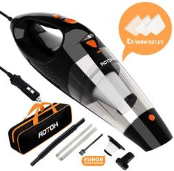 Car Vacuum Cleaner High Power 12V Portable Double Filtration