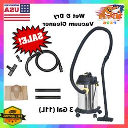 Wet/Dry Vacuum Cleaner With Hose, Carpet/Car Attachment Part